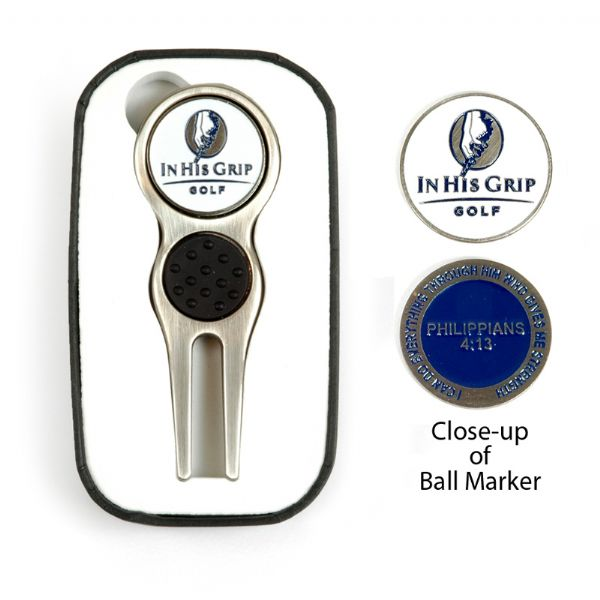 In His Grip Divot Tool & Ball Marker
